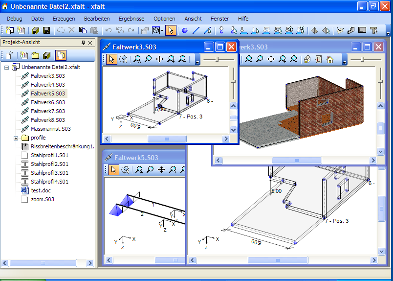 Die Fensterverwaltung D I E Statik Software