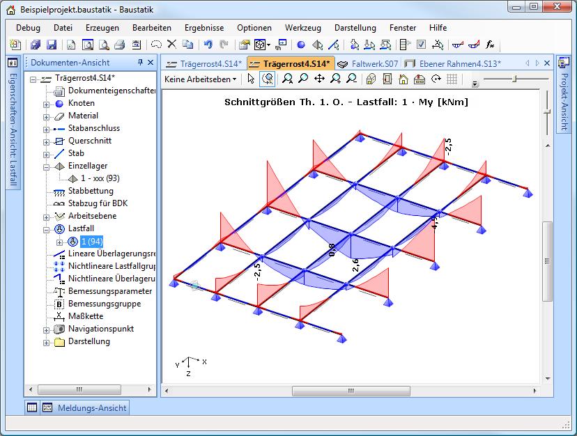 Tr gerrost d i e statik software for Stabwerk berechnen